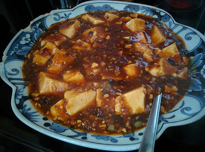 毛家麺店の麻婆豆腐