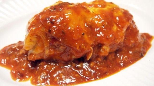 鶏胸肉の生ハムチーズ焼き